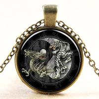 Pendentif Tigre & Dragon Bronze