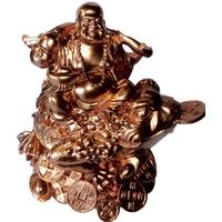 Bouddha et grenouille de richesse  Cuivre : Gold Rose