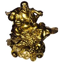 Bouddha et grenouille de richesse Doré