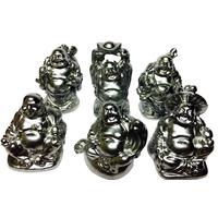 Bouddhas des six bonheurs Argent