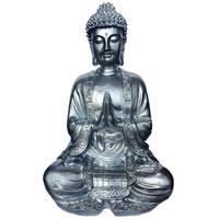 Grand bouddha Argent en méditation
