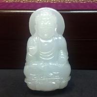 Pendentif  Amitabha en Jade Blanc : Bouddha protecteur spécial 2018