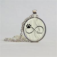 Pendentif chien feng shui : Amour Eternel