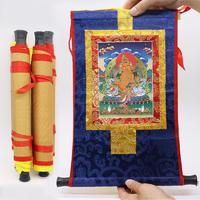 Thanka Zambala : Peinture tibétaine du bouddha de la richesse