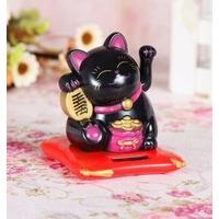 2.chat-japonais-Maneki Neko solaire noir