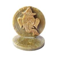 Porte encens Ganesh en pierre, dieu de la joie