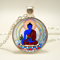 Pendentif Amulette du bouddha de la médecine