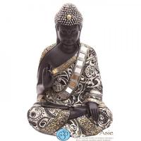 Grand bouddha thaï noir et argent