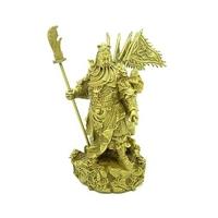 Kwan Kung, dieu de la richesse aux 9 dragons en bronze