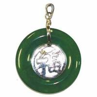 Pendentif  du BONHEUR en jade