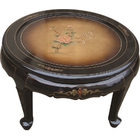 Table Basse Laque de Chine tradition cuivre