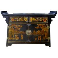 Console chinoise en bois pagode Nuit de Chine