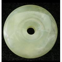 Pendentif amulette Donut Chinois Porte-Bonheur en jade