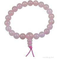Bracelet porte bonheur: Mala en quartz rose (amour)