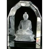 Siddhartha Gautama, bouddha en cristal 3d
