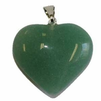 Grand pendentif coeur de jade