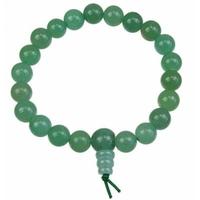 Bracelet porte bonheur:  Mala en aventurine (équilibre émotionnel, voyage & communication)