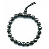 Bracelet porte bonheur:  Mala en hématite (volonté et sagesse)