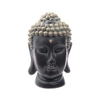 Tête de bouddha noir et or