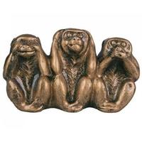 3 singes de la sagesse dorés