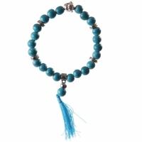 Bracelet porte bonheur Mala bleu : Amitié & Sagesse