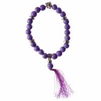 Bracelet porte bonheur Mala violet : spiritualité & expression de soi