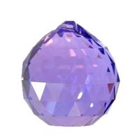 Boule de cristal violet 4cm
