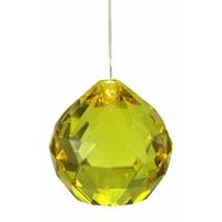 Boule de cristal feng shui jaune 5 cm