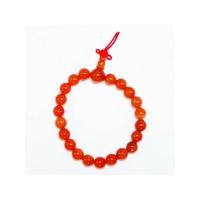 Bracelet porte bonheur :  Mala en aventurine rouge  (Paix,générosité et fidélité)