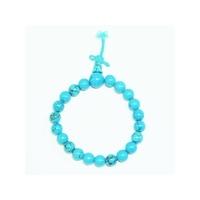 Bracelet porte bonheur : Mala en turquoise (santé et protection)