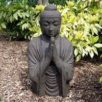 Grand bouddha de jardin effet terre cuite