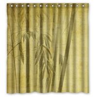 Rideau de douche zen : Bambous japonais