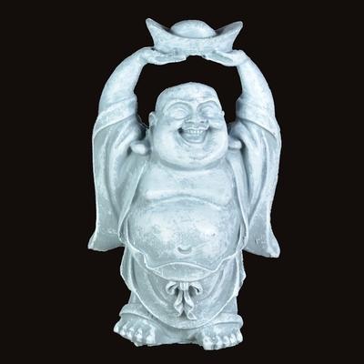 Bouddha de richesse effet pierre