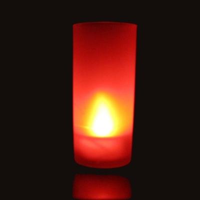 Bougie Photophore à led couleur rouge SANS fonction Souffler