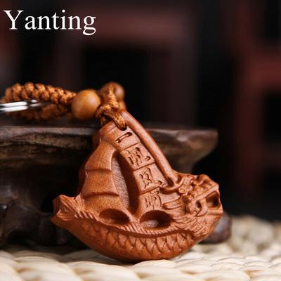 Porte-clefs amulette bateau de richesse