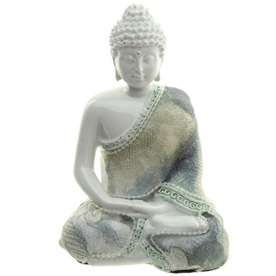 Bouddha blanc en méditation