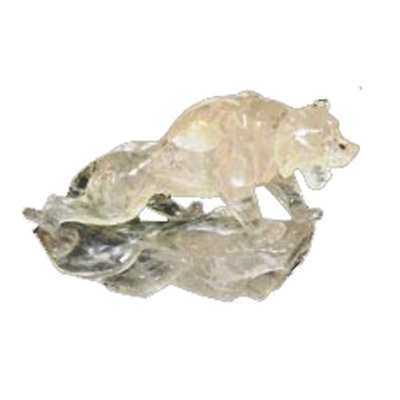 Tigre en cristal de roche