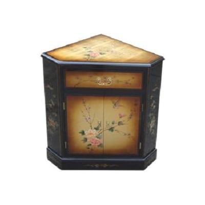 Meuble d'angle en bois Laque de Chine cuivre