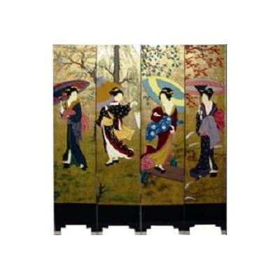 Paravents geisha : Les quatre saisons