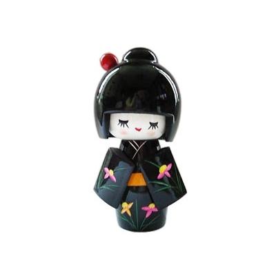 Poupée japonaise kokeshi noire