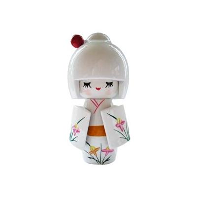 Poupée japonaise kokeshi blanche