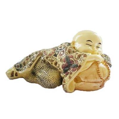 Bébé moine en ivoirine peint à la main
