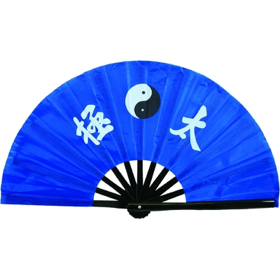 Eventail tai chi bleu Yin Yang