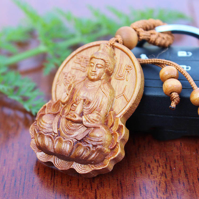 Amulette Japon : Kwan yin en bois
