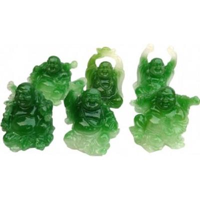 Bouddhas des six bonheurs effet Jade