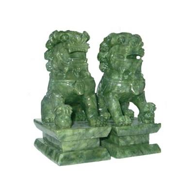 Grands lions en jade