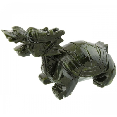 Tortue dragon en jade : Feng shui Carrière