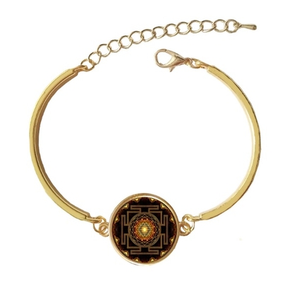 Bracelet doré Sri Yantra : Amour & Protection