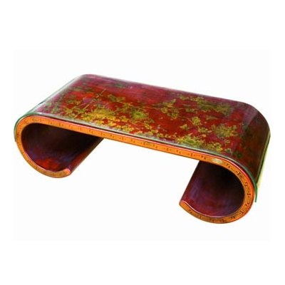 Table basse parchemin style Cité Xian