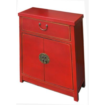 Meuble Japonais de rangement rouge
